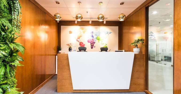 Cách thiết kế khu vực lễ tân hoàn hảo trong văn phòng của bạn