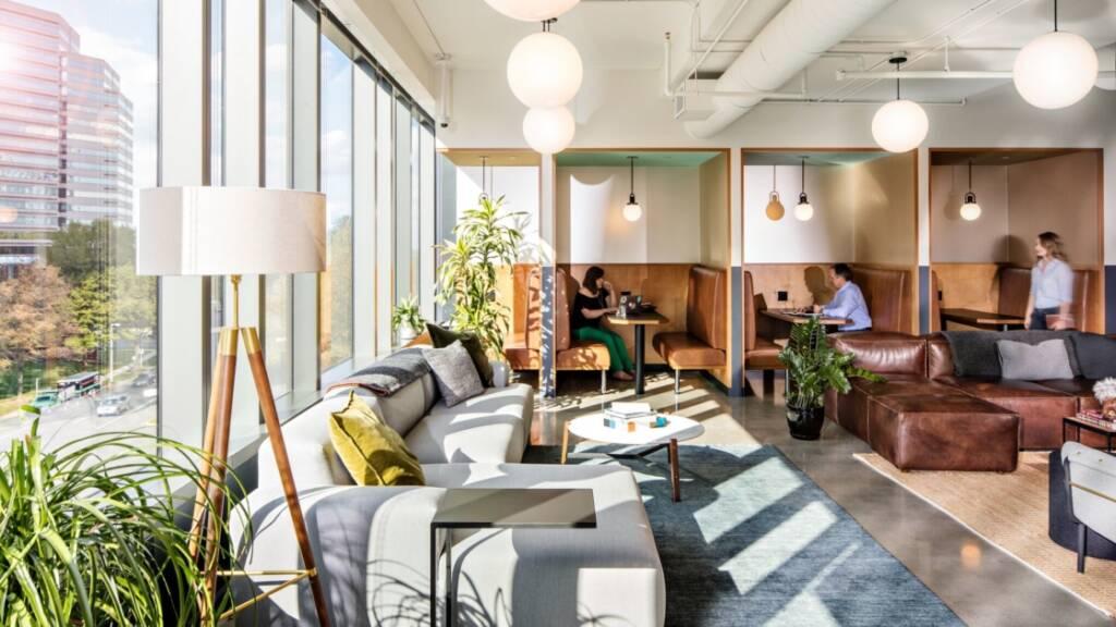 Không gian thiết kế đẹp mắt tại coworking